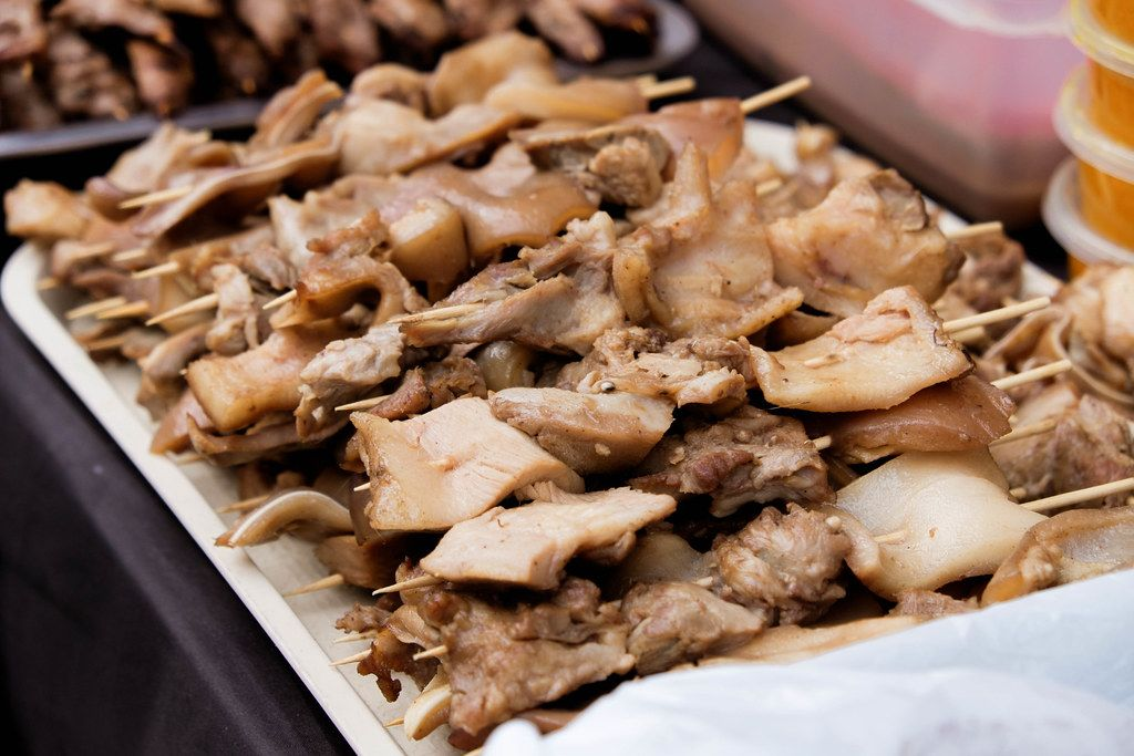 Close up of pork barbeque on a tray (Flip 2019)