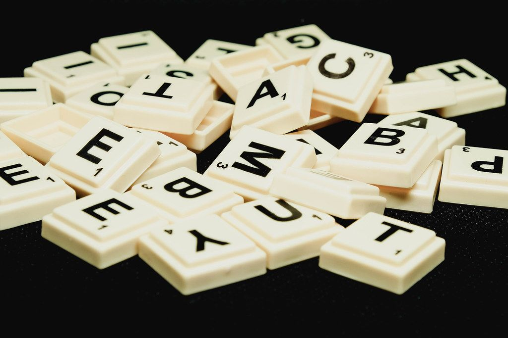 Close up of scrabble letters