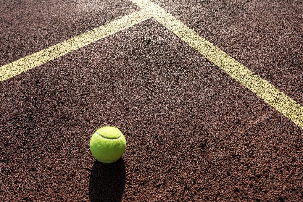 Close up of the Tennis Court