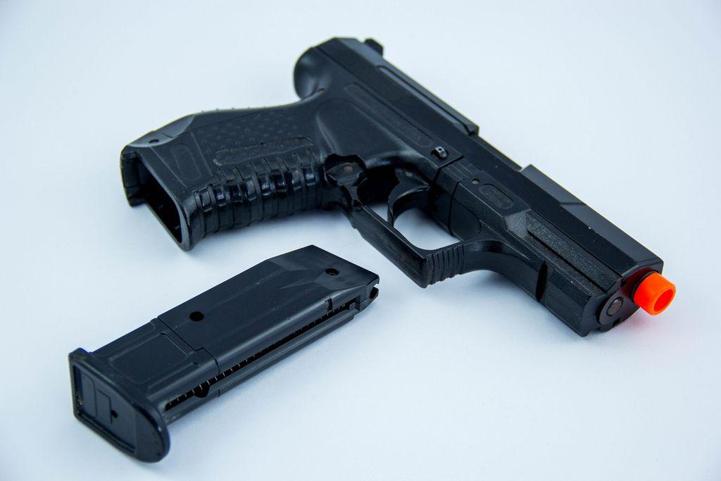 Closeup of a Toy Gun