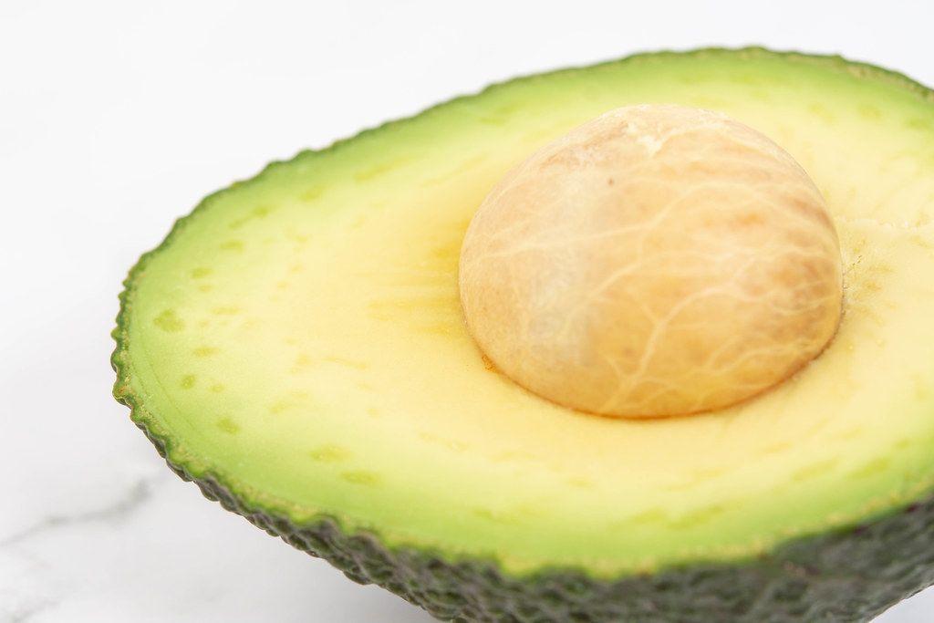 Closeup of Sliced Avocado