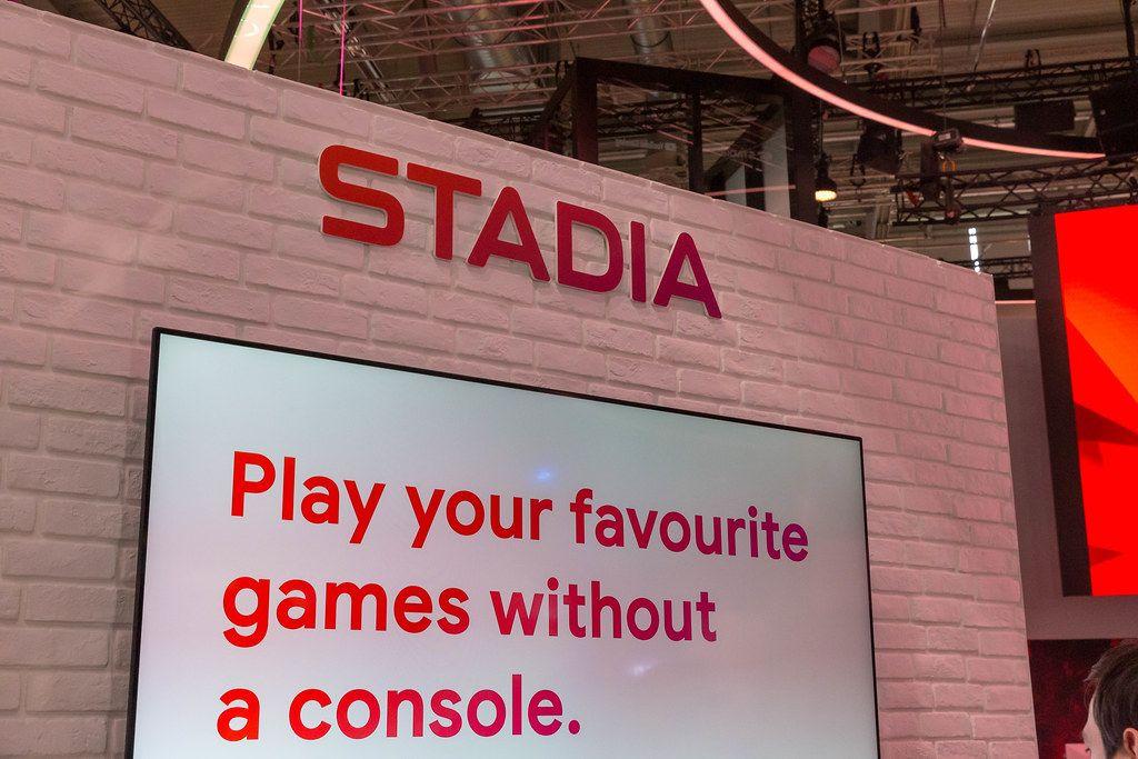Cloud-Gaming-Dienst Stadia von Google wirbt auf der Gamescom, Videospiele ohne Konsole zocken zu können