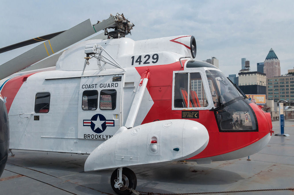 Coast Guard Helictoper at Intrepid