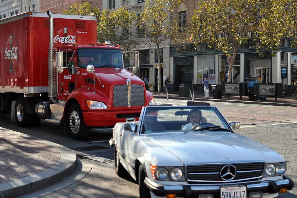 Coca Cola Truck & Mercedes Oldtimer Cabrio