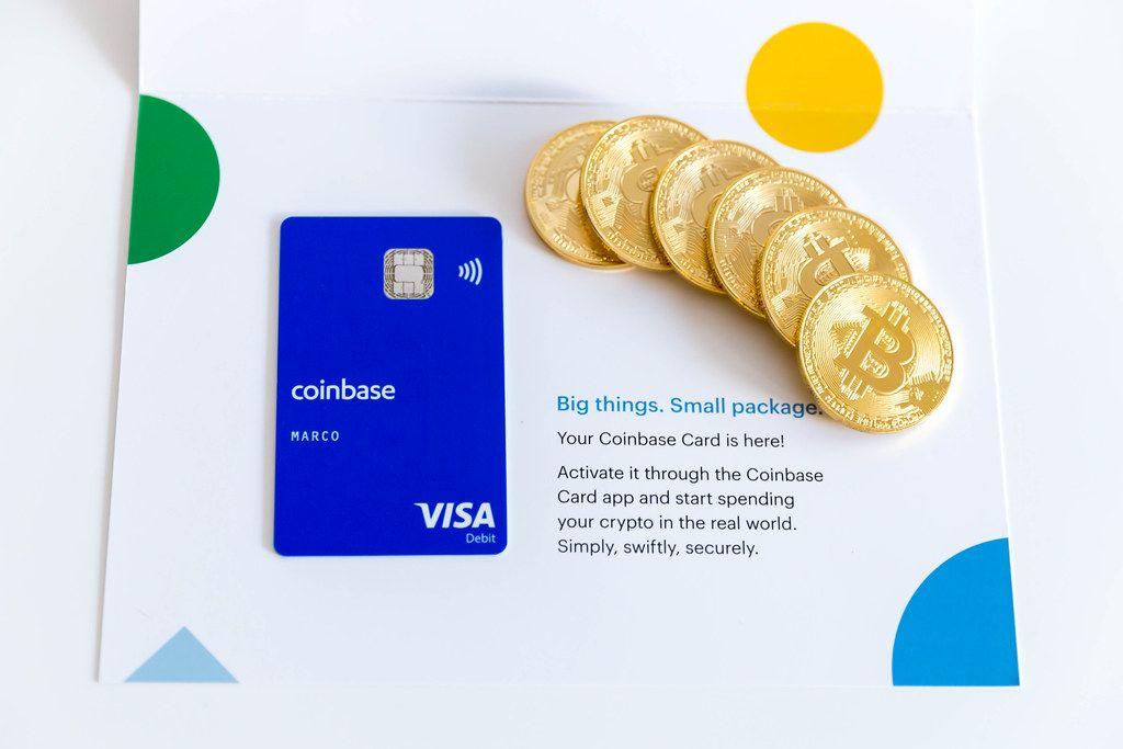 Coinbase Visa Credit Card and Bitcoin Coins