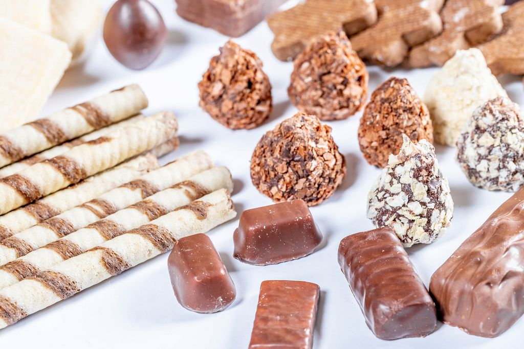 Collection of different chocolate and wafer candies (Flip 2019) (Flip 2019) Flip 2019