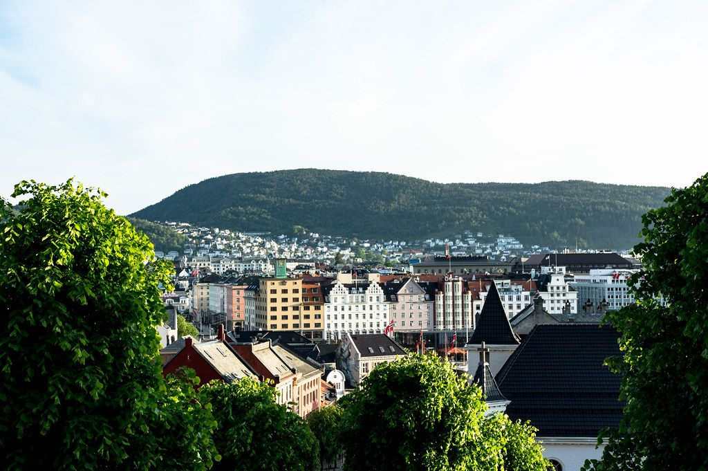 Colorful Bergen architecture