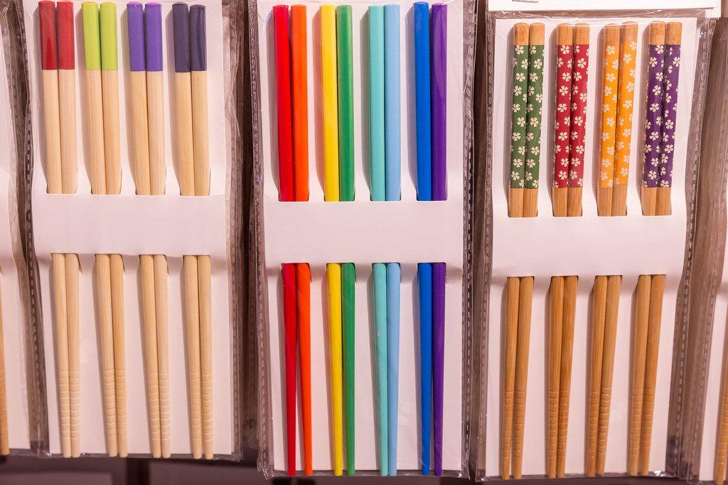 Colorful japanese chopsticks