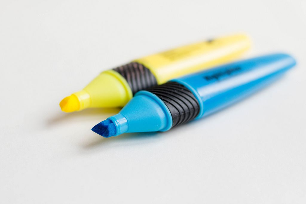 Colorful Marker Pen Set on White Background