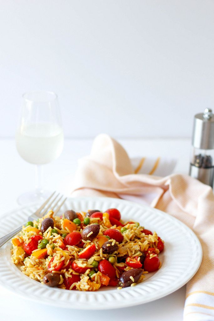 colorful vegetable rice with beans