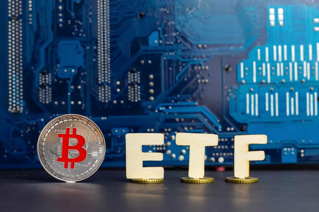 Concept of Bitcoin and ETF