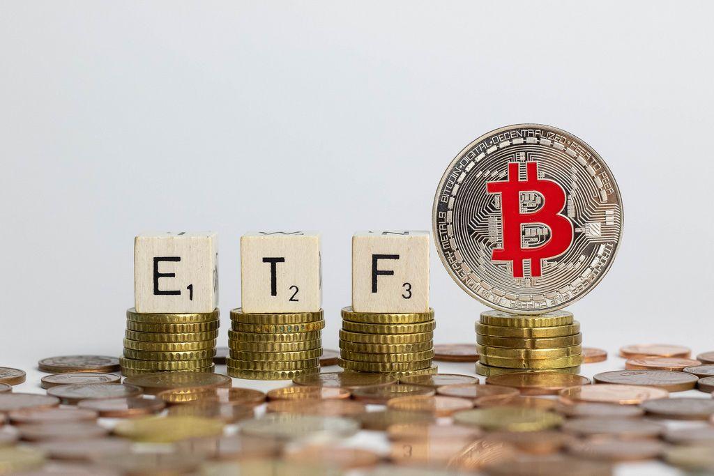 Concept of Bitcoin ETF
