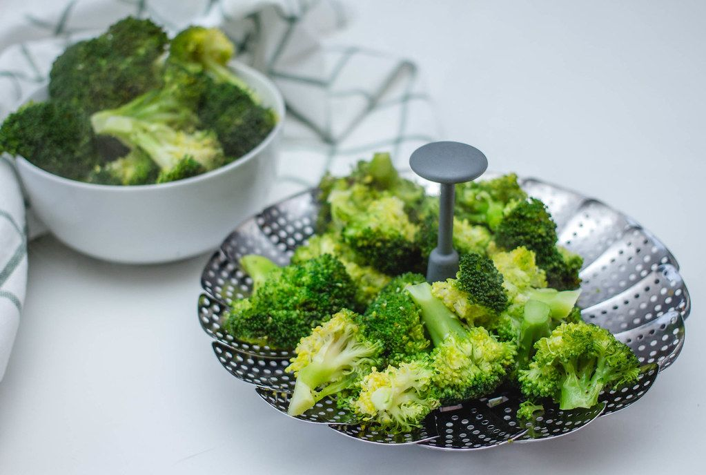 Cooked Steamed broccoli