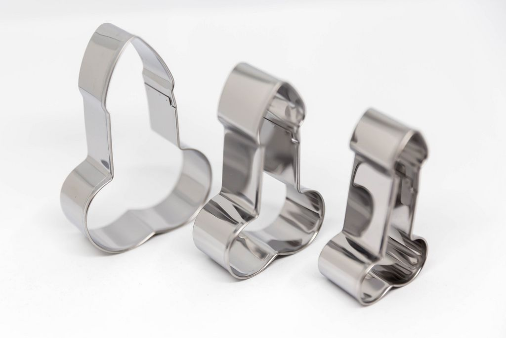 Cookie cutters in penis shape made of stainless steel