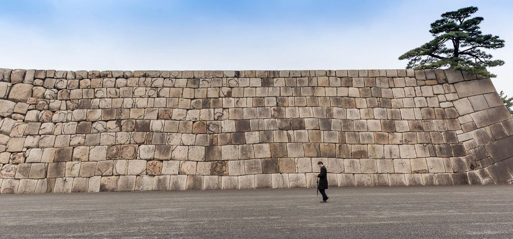 Cornerstone of Edo Castle's Keep