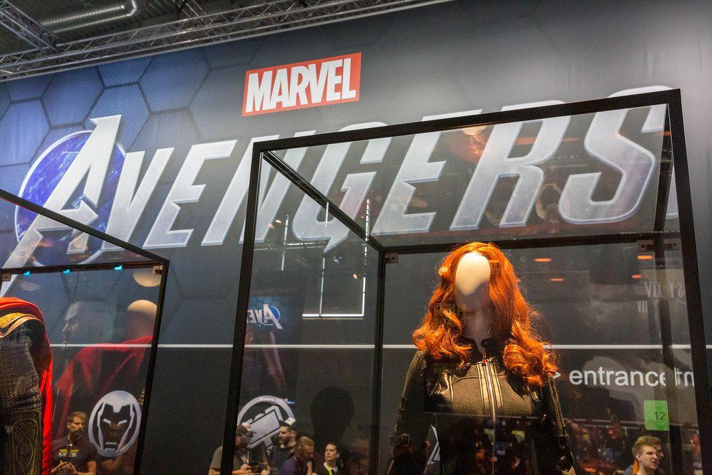Cosplay - Kostümaustellungen der Marvel Avengers Superhelden, auf der Gamescom in Köln