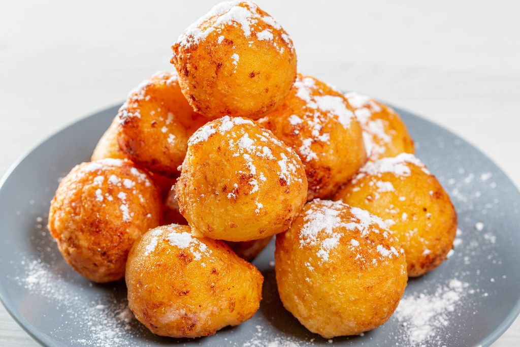 Cottage cheese sweet balls deep fried