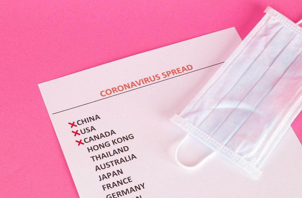 Countries with Coronavirus cases