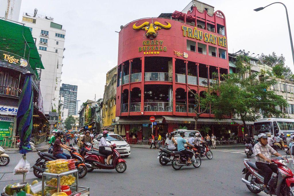 Crazy Buffalo Bar in Bui Vien Street, Saigon
