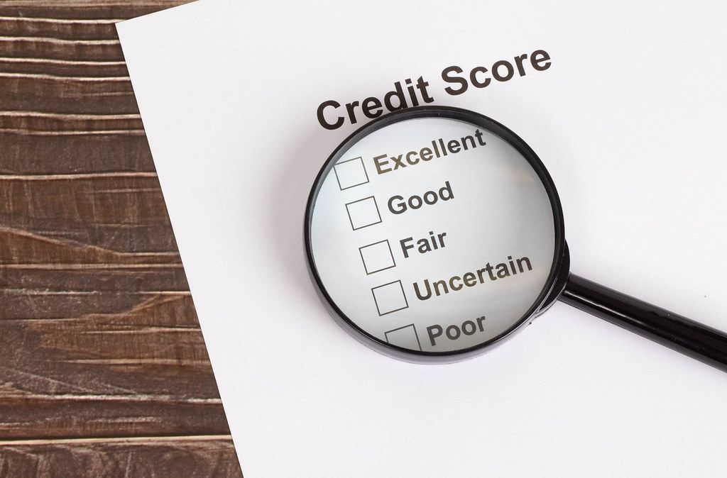 Credit Score results under magnifying glass