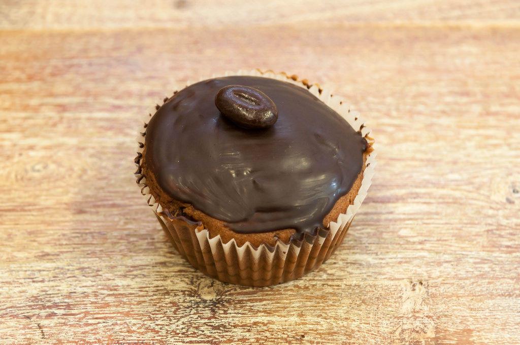 Cup-Cake mit Schokolade