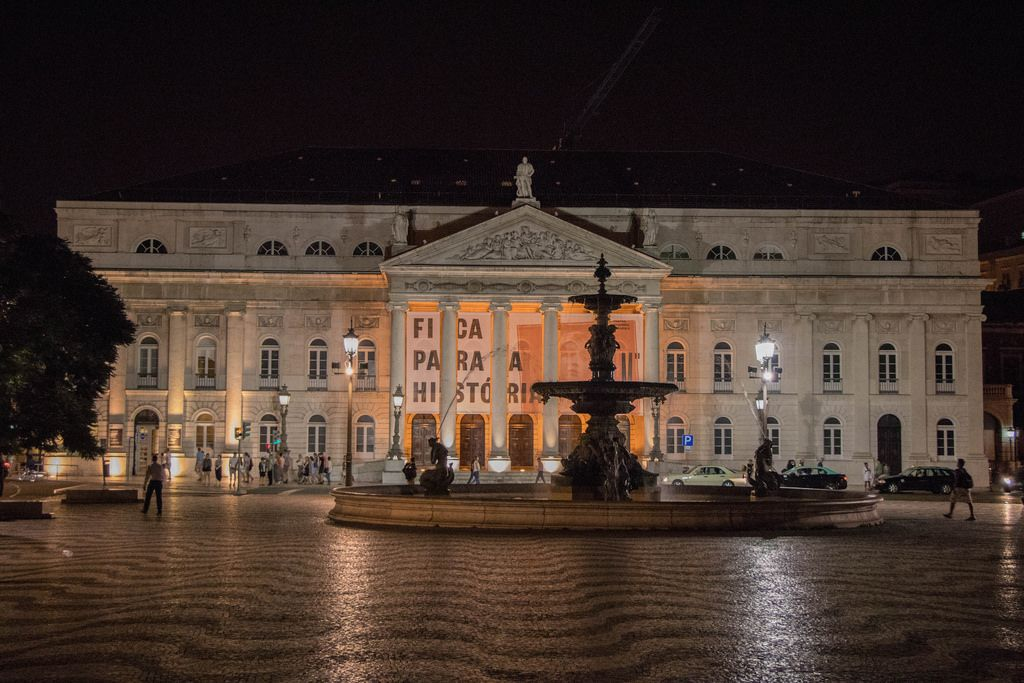 D. Maria II Theater and Rossio Square