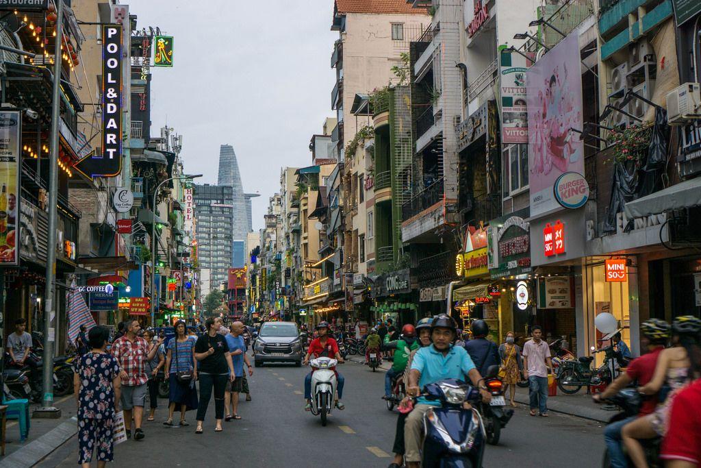 Daily Life in Bui Vien Street in Saigon