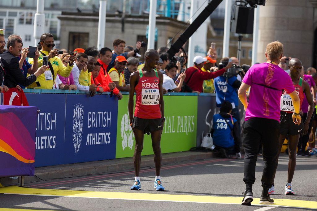 Daniel Kinyua Wanjiru und Geoffrey Kipkorir Kirui (Marathon Finale) bei den  IAAF Leichtathletik-Weltmeisterschaften 2017 in London