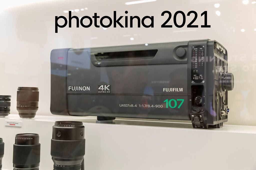 Das 4K-Broadcast-Objektiv Fujinon von Fujifilm in 4k UHD, neben dem Bildtitel