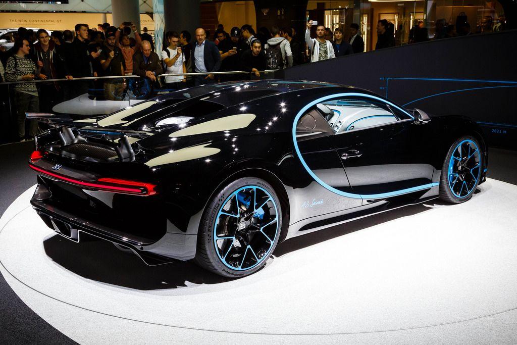 Das Bugatti - Modell Chiron zero-400-zero bei der IAA 2017