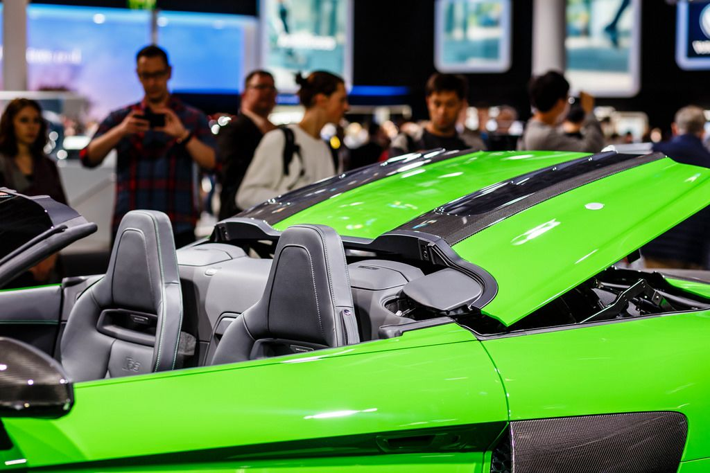 Das Cabrio-Dach des Audi-Modells R8 V10 plus