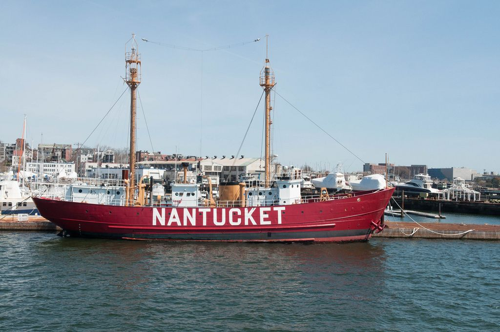 Das Feuerschiff Nantucket in Boston, USA