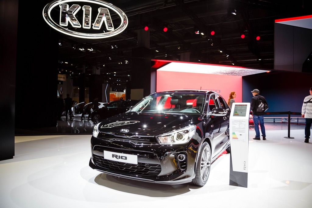Das Kia Modell Rio bei der IAA 2017 in Frankfurt am Main