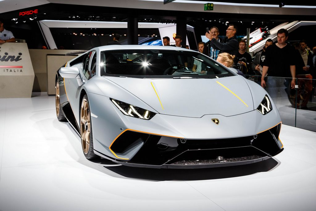 Das Lamborghini - Modell Huracan bei der IAA 2017