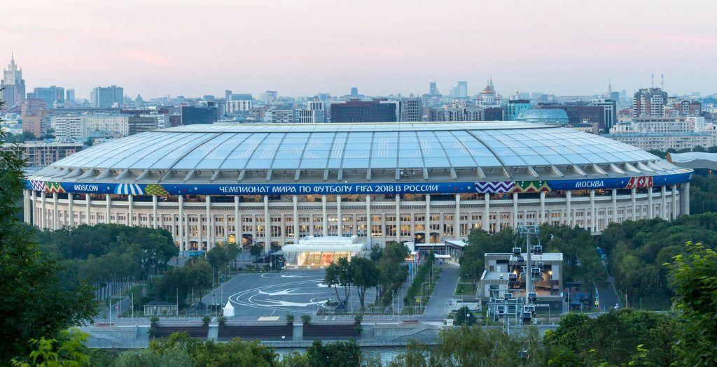Das Luschniki-Stadion in Moskau