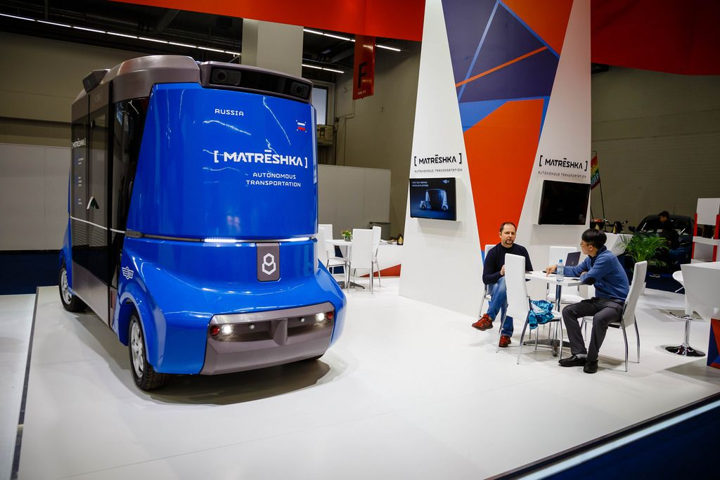 Das russische Smartbus - Konzept MATRЁSHKA von Volgabus bei der IAA 2017