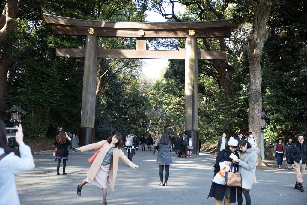 Das Tor zum Meiji-Schrein, Tokyo