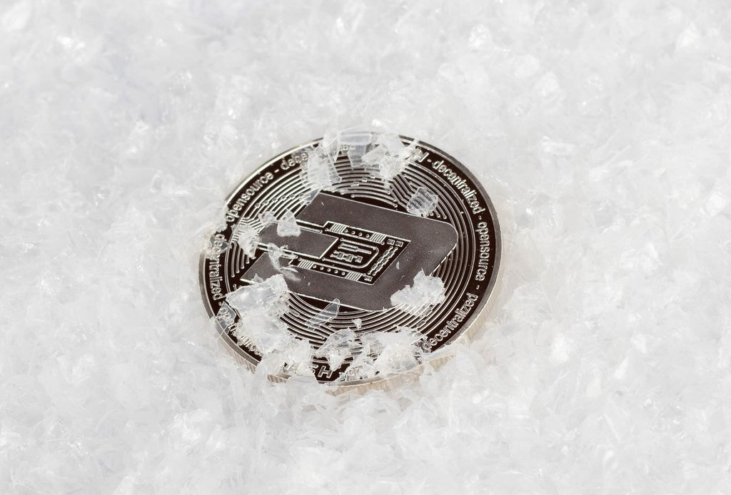 Dash coin ice concept