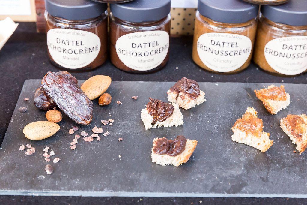 Dattel-Schokocreme und Dattel-Erdnusscreme