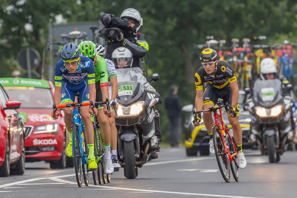 Day-long escape of Yoann Offredo (Wanty), Taylor Phinney (Cannondale-Drapac), Laurent Pichon (Fortuneo) and Thomas Boudet (Direct Energie)