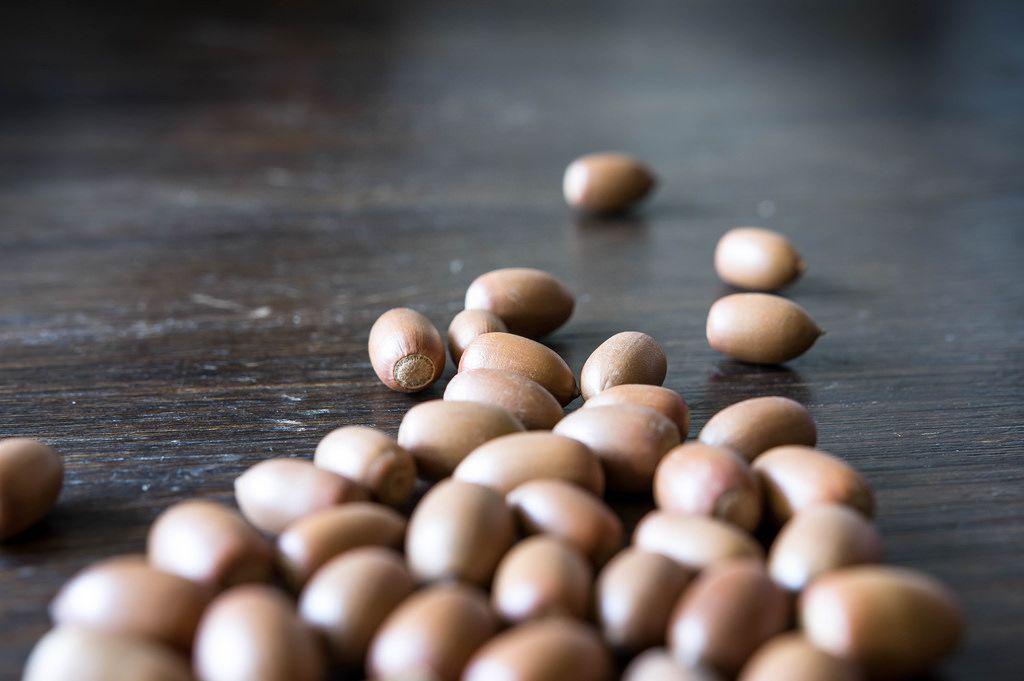 Decorative acorns without caps