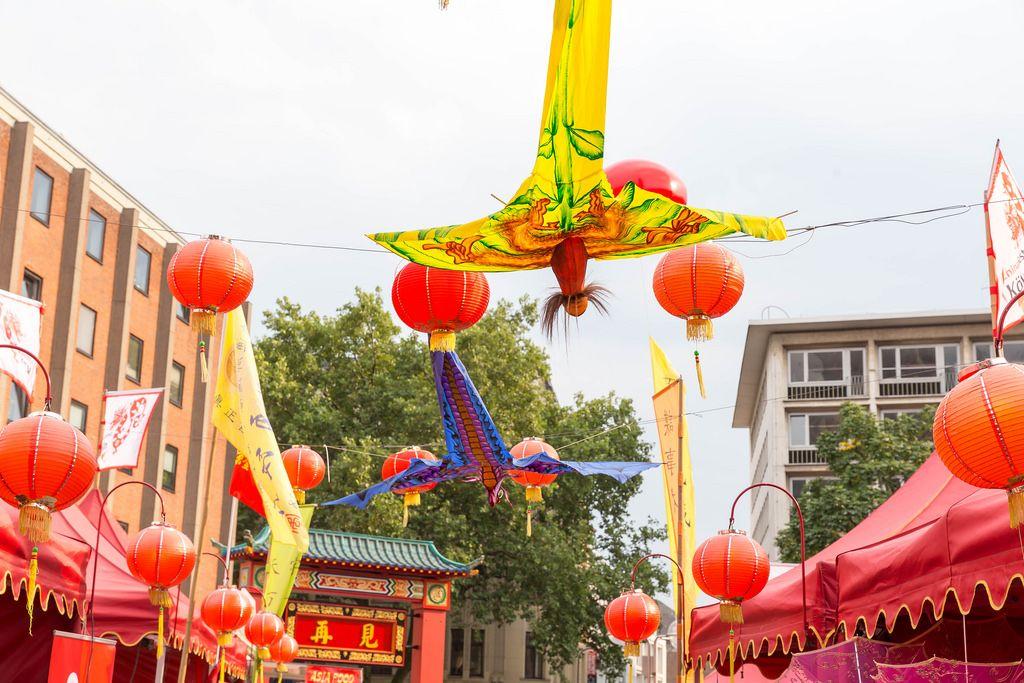 Deko beim Chinafest in Köln