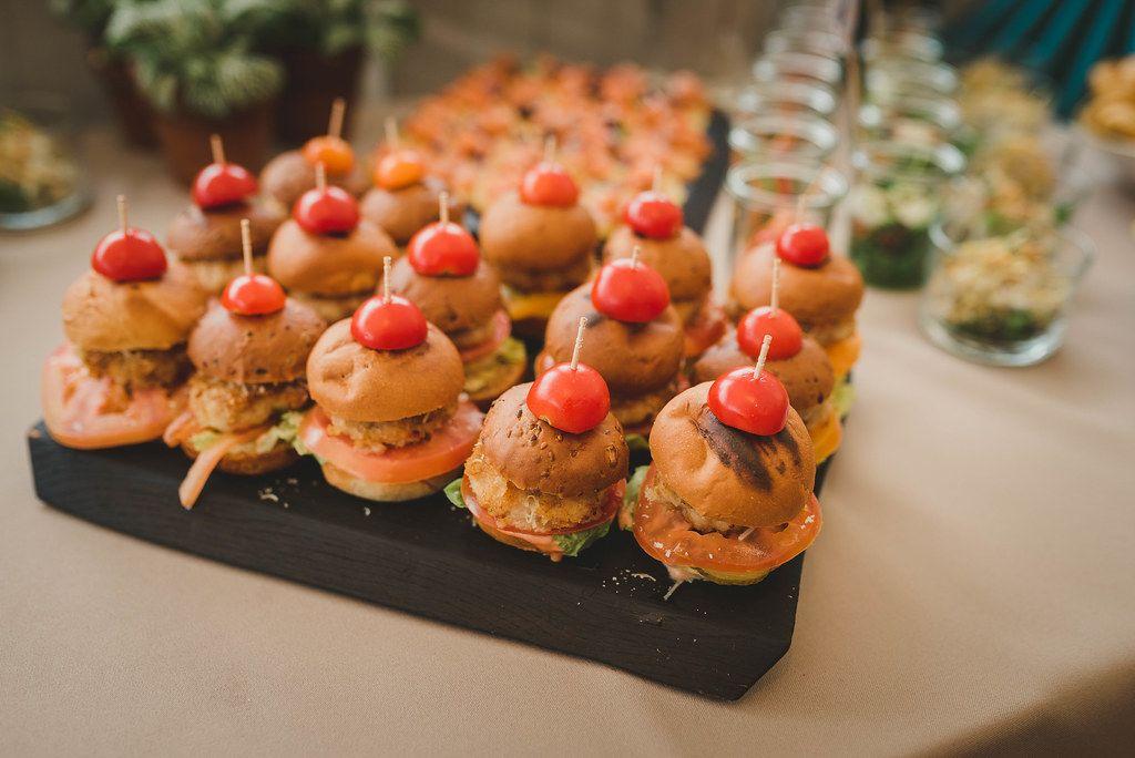 Delicious Mini Burgers With A Tomato Slice On Top