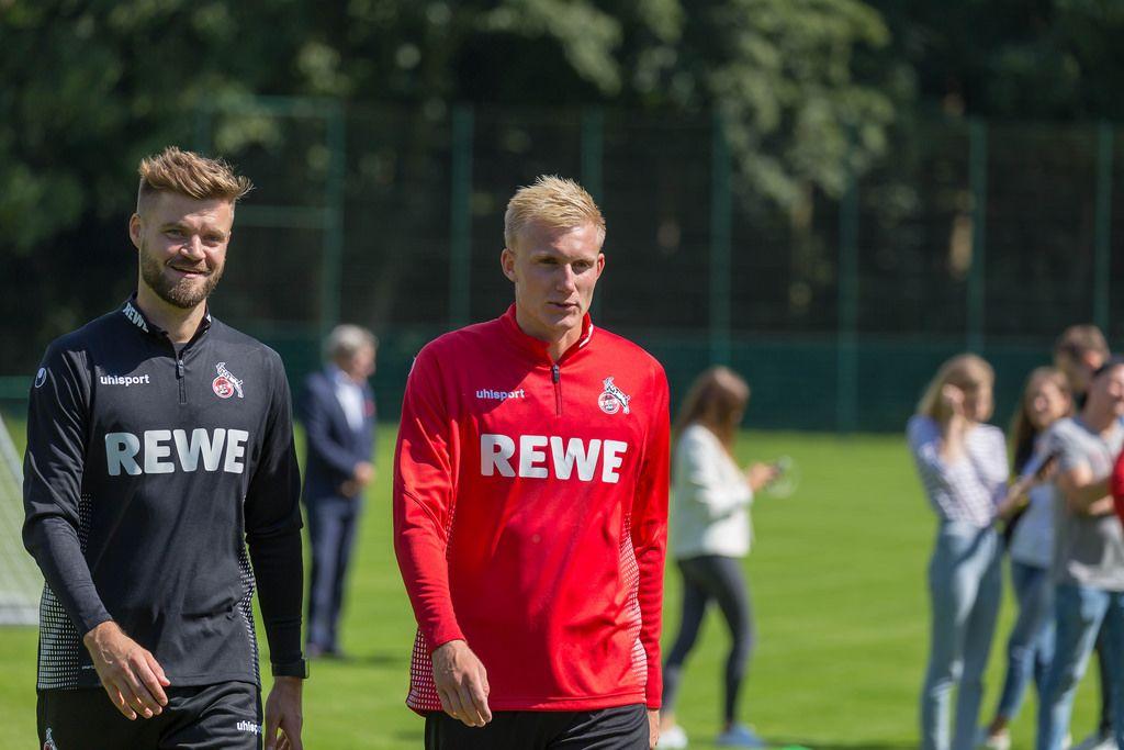 Dennis Morschel und Frederik Sørensen beim Training am 25.06.2018
