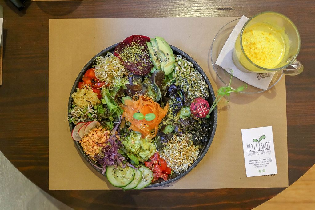 Der bunte, spanische Salat