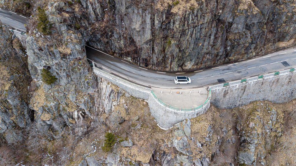 Der Felsenweg in den Südvogesen. Col de la Schlucht