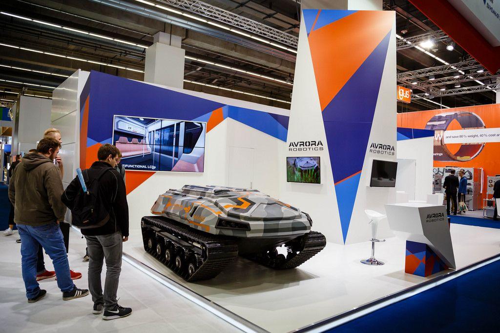 Der selbstfahrende Mini-Panzer von Avrora Robotics bei der IAA 2017