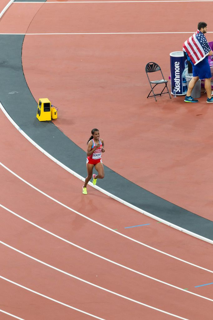 Desi Mokonin (10.000 Meter Lauf) bei den IAAF Leichtathletik-Weltmeisterschaften 2017 in London
