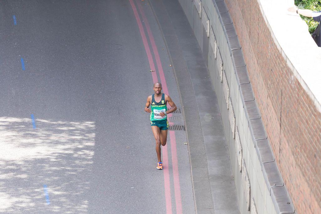 Desmond Mokogobu (Marathon Finale) bei den IAAF Leichtathletik-Weltmeisterschaften 2017 in London