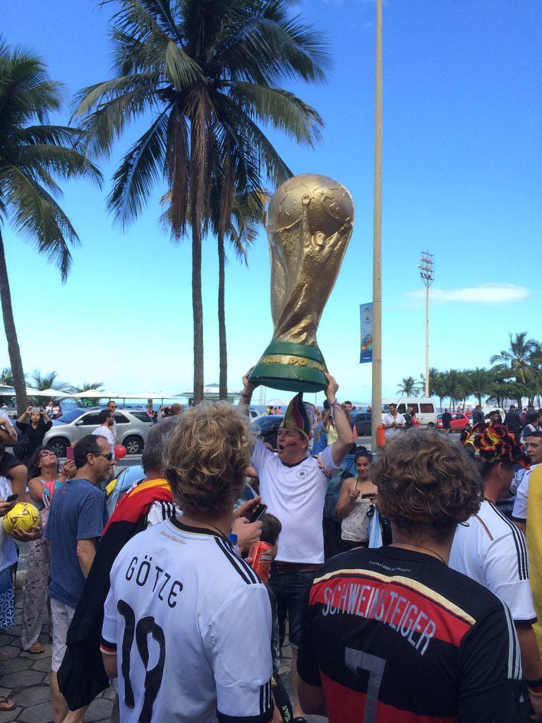 Deutsch Fußball-Fans beim Feiern - Fußball-WM 2014, Brasilien